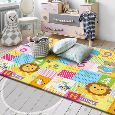 Large Double Sides Non-Slip Waterproof Portable For Playroom Baby Play Mat