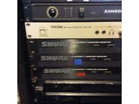 Shure radio mic receivers x 3