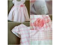 Jasper Conran pink spotty dress 6-9months