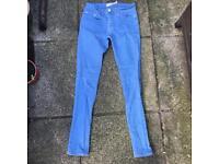 Topman spray on skinny jeans size 28s