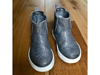 Silver Glitter Chelsea Boots Size 7 EUR 24 H&M christmas