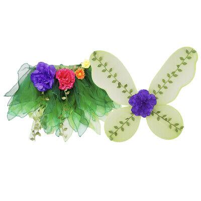 Schöne Blume Blätter Schmetterling Fairy Wings Tutu Rock Kostüm - Schöne Schmetterling Mädchen Kostüm