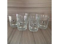 6 x glasses with greyhound pic **New**