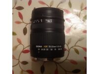 Sigma DC 18-125mm 1:3.5-5.6 Lens , Canon fit. Incl. Hoya lens protector.