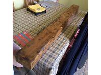wooden beam/shelf