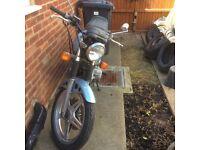Honda CB250 blue