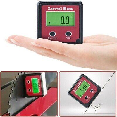 Lcd Digital Inclinometer Level Box Protractor Angle Finder Bevel Gauge Magnet