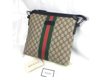 Web GG Supreme messenger Gucci men's designer bag 275ono