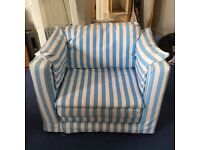 Aspace blue/white striped armchair (bed)