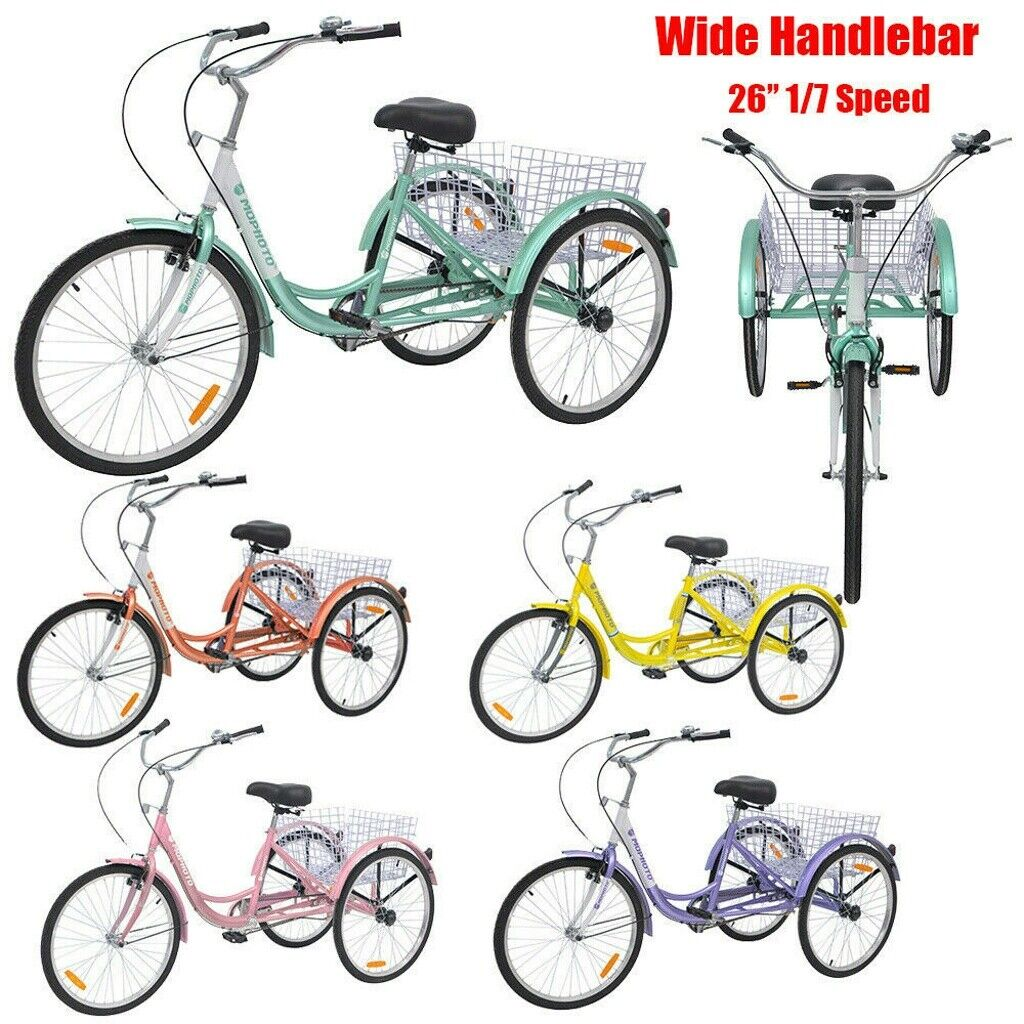 """2020 Adult 26inch Normal/Wide handle 1""""7""""Speed 3-Tricycle Cr"""