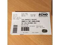 James /Charlatans gig ticket. Less than face value. Liverpool Echo Arena. Saturday 10 December 2016