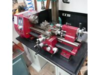 Seig SC4 Lathe and floor stand with built in cupboards