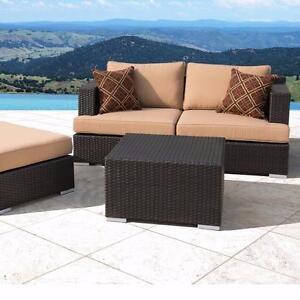 Ensemble de sofa extérieur 4 pièces Beige (MS008)