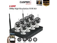2MP 8CH CCTV Wireless Kit 1080P Wifi NVR Security System IP Cameras Night Vision