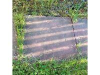 8 pink paving slabs