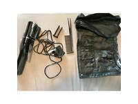 Hair trimmer with accessories