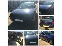 VW GOLF GTI 115 BHP 2.0 2000 5 DOOR BLUE MANUAL PETROL Bonnet all parts available