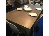Ex Display John Lewis Large Asha Washed Mango Wood Dining Table rrp £499