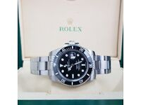 Silver Black Rolex Submariner Comlete set with Box abd Paperwork