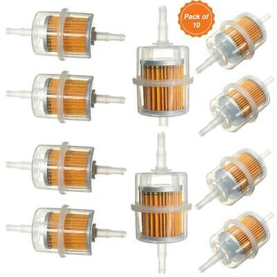 10pcs Universal Petrol Inline Fuel Filter Large Car Part for 6mm 8mm Pipes