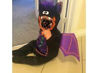 Baby bat halloween outfit size 6-12 months