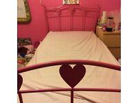 Next Pink Heart Bedframe