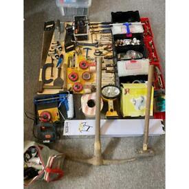 Tools DIY job lot car boot sledgehammer pick axe