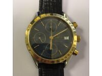 OMEGA Speedmaster Auto Chronograph from 1991 with gold Bezel and 1 yr guarantee