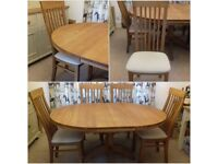 Oak Dinning Table and 6 Chairs.BEAUTIFUL CONDITION!