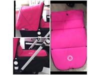 Pink option- immaculate bugaboo cameleon 3 hot pink with footmuff