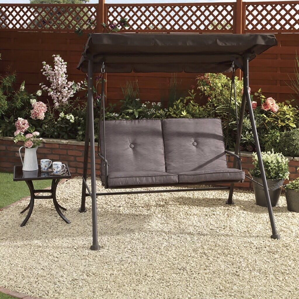 New capri 2 seater swing chair outdoor garden furniture for Outdoor furniture 3 seater