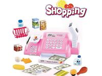 SHOPPING CASH REGISTER AND SCANNER (LIGHTS AND SOUNDS) PLAY SET GIRLS TOY GIFT PRESENT BIRTHDAY WOW