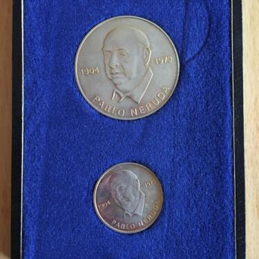 2 Gedenkmünzen Ddr Pablo Neruda Aus 1973 In Sachsen Limbach