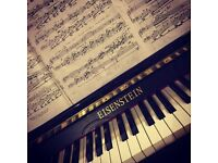 Piano lessons suitable for all ages and abilities.