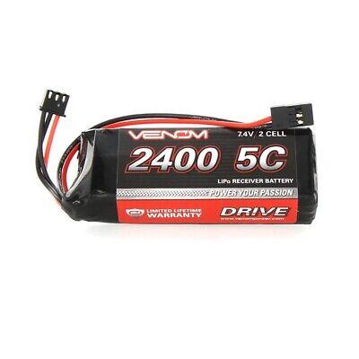 Venom 5C 2S 2400mAh 7.4 Receiver/Transmitter Flat Pack LiPo