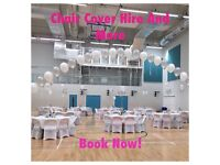 PACKAGE DEALS: Centrepieces, Silk Flowers, Backdrop and Table skirts and MUCH MORE