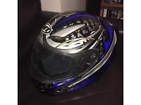 MT helmets blue motorcycle helmet