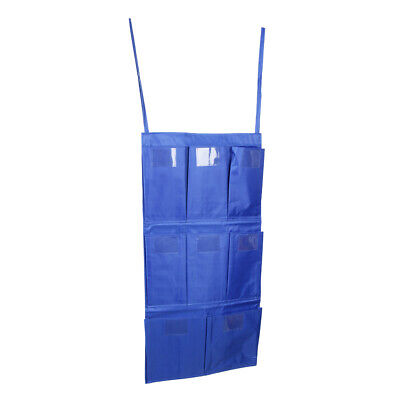 1pcs Cleaning Trolley Janitorial Housekeeping Cart Hanging Bag 8 Pockets