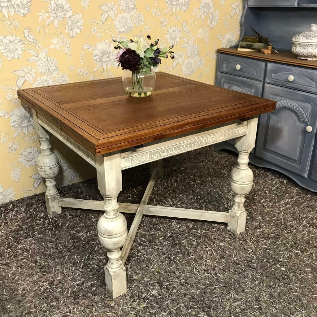 Extending Dining Table Solid Oak Antique Dining Table Jacobean Style In Brighton East Sussex Gumtree