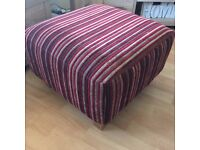 NEXT Red & Cream Striped footstool with matching snuggle seat & sofa bed and corner suite