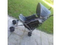 Maclaren quest Pushchair/ buggy with rain cover blues