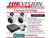 Hikvision HiWatch CCTV: 4CH Hikvision Turbo-HD Cube, 2x Hikvison 1080P Dome Cameras