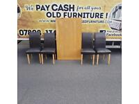 Beechwood table & 4 chairs (few marks on chairs but otherwise in very good condition)£45