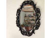 Atsonea vintage mirror with ornate frame and bevel edge glass