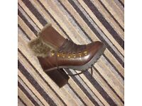 Brown Leather NEW ladies ankle boot