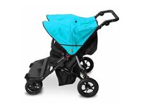 Out n About Nipper Double Pushchair in Marine Blue - BRAND NEW BOXED