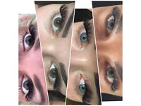 Russian Volume lashes and Individual Eyelash Extensions