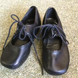 Small Black Tap Dancing Shoes