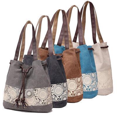 Canvas Shoulder Bag Retro Casual Purse Tote Handbag Travel Messenger For Women