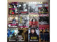 Twelve L'Uomo Vogue men's fashion magazines including supplements job lot